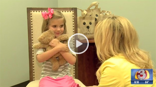 6-Year-old girl donates teddy bears to newborns with cleft palates